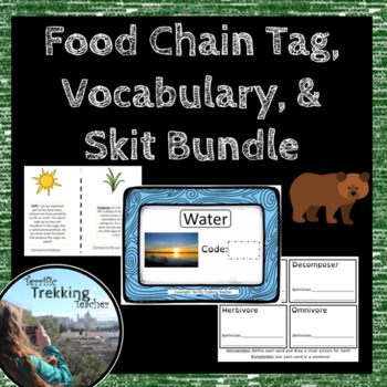 Food Chain Tag Games, Skit and Vocabulary Word Wall Activity
