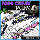 Food Chain Trains- Interdependence with Puzzles, Crafts, QR Code Hunt and more!