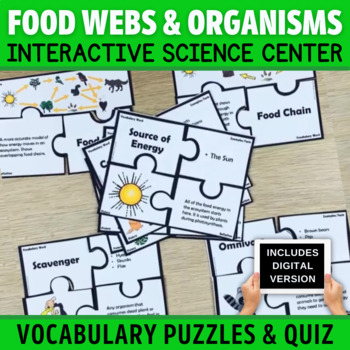 Food Chains and Energy Flow Vocabulary Puzzles