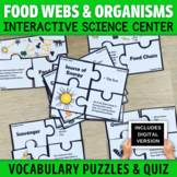 Food Webs with Producers and Consumers Vocabulary Puzzles