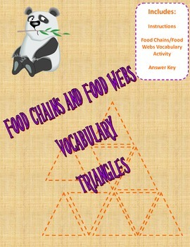 Food Chain Vocabulary Triangles Activity
