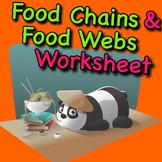 Food Chain and Food Webs Worksheet