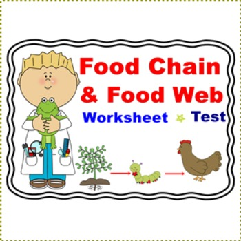 Food Chain and Food Web Worksheet/Test by Smiley Teacher ...