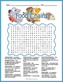 FOOD CHAINS Word Search Puzzle Worksheet Activity