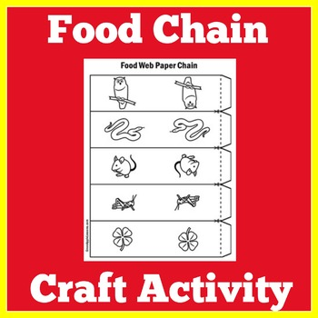 Food Chain Craft Food Chain Activity Food Chain Worksheet Tpt