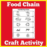 Food Chain Worksheet Activity