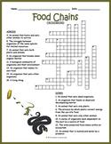 Food Chain Crossword Puzzle