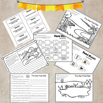 Food Chains Activities Bundle Pack