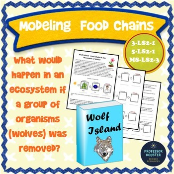 Food Chains Activity and Story NGSS 3rd 5th Middle  3-LS2-1 5-LS2-1 MS-LS2-3