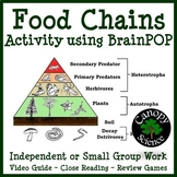 Food Chains Activity using BrainPOP