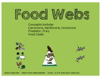 Food Chains Adapted Worksheets