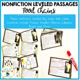 Nonfiction Leveled Reading Passages and Questions - Food Chains