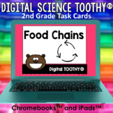 Food Chains Digital Science Toothy ® Task Cards | Distance