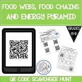 Food Chains, Food Webs, Energy Pyramid QR Code Scavenger Hunt