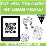 Food Chains, Food Webs, Energy Pyramid QR Code Scavenger Hunt