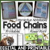 Food Chains & Food Webs Interactive Notebook, Editable Pow
