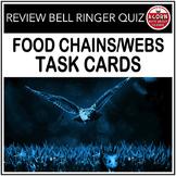 Food Chains Food Webs Task Cards