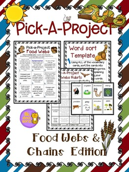 Food Webs by Wild About Words | Teachers Pay Teachers