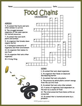 Food Chains Puzzle Bundle