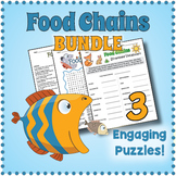 FOOD CHAINS BUNDLE - Word Search, Crossword, Scramble Puzzle Worksheets