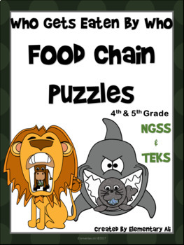 Food Chains Puzzles: Who Gets Eaten By Who Activity