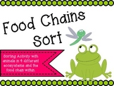 Food Chains Sort