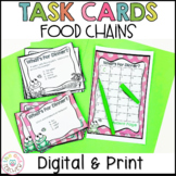 Food Chains Activity   Task Cards