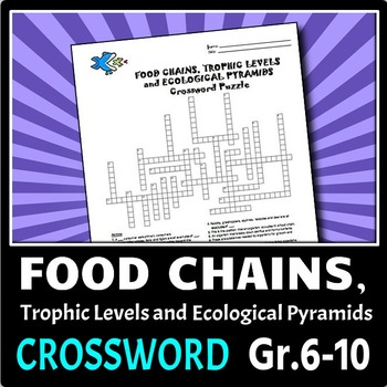 Food Chains Crossword {Editable}