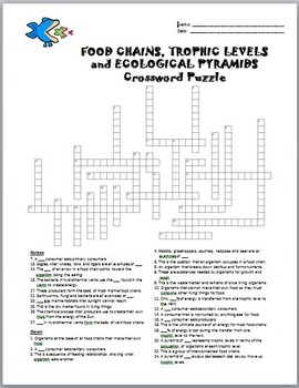 food chains crossword editable by tangstar science tpt. Black Bedroom Furniture Sets. Home Design Ideas
