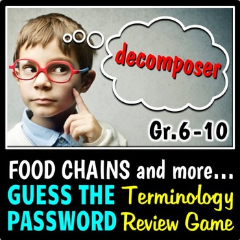 Food Chains - Terminology Review Game {Editable}