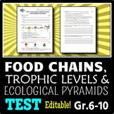 Food Chains - Test {Editable}