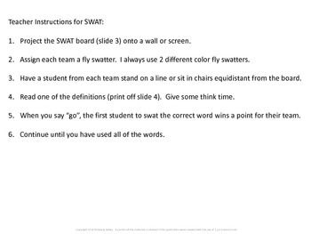 Food Chains Vocabulary SWAT game- Life Science