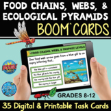 Food Chains, Webs, and Ecological Pyramids Boom Cards