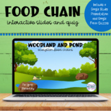 Food Chains | Woodland and Pond | Google™ Slides and Forms