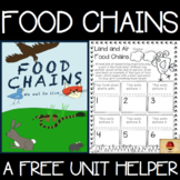Food Chains FREE Unit Helper