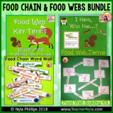 Food Chains and Food Webs Bundle: Activities, Word Wall, C