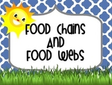 Food Chains Powerpoint and Food Webs Powerpoint