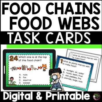 Food Chains and Food Webs Task Cards