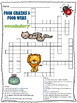 Food Chains and Food Webs Vocabulary Crossword Puzzle Activity