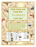 Food Chains and Food Webs Vocabulary Sort- TEKS 5.9B TEKS