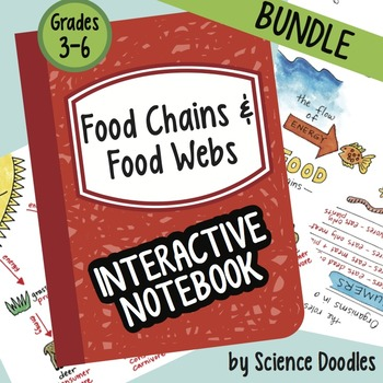 Food Chains and Food Webs Interactive Notebook BUNDLE by Science Doodles