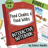 Science Doodle - Food Chains and Food Webs Interactive Notebook BUNDLE Notes