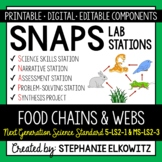 Food Chains and Webs Lab Stations Activity (NGSS 5-LS2-1 & MS-LS2-3)