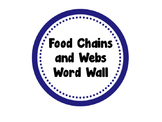 Food Chains and Webs Word Wall