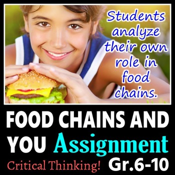 Food Chains and You Assignment {Editable}
