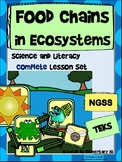 Food Chains in Ecosystems Complete Lesson Set Bundle (NGSS