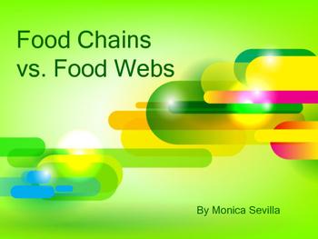 Food Chains vs. Food Webs eBook