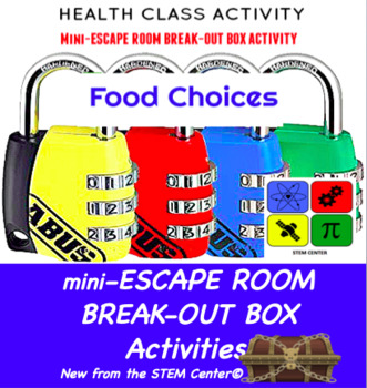 Food Choices Escape Room - Break Out Box