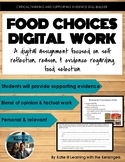 Food Choices reason and support: a digital assignment