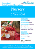 Food - Chopsticks (Gummy Bears) : Letter G : Ghost - Nursery (2 years old)